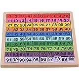MOONRING 教具 100並べセット 数字 おもちゃ 知育玩具 算数 ブロック 木製 パズル 数字盤 積み木 学習 引き算