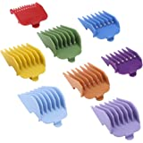 """8Pcs Colorful Professional Hair Clipper Combs Guides #3171-500 – 1/8"""" to 1"""",Attachment Guide Combs,Wahl Guards Set, Fits for"""