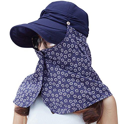 (シッギ)Siggi コットン おしゃれ ハンチング キャスケット つば付きベレー帽 婦人帽子 ニュースボーイキャップ 日よけ帽子 ハット 帽子 シェードハット キャップ レディース 春夏 小顔効果 フリーサイズ ゴルフ UV 56cm 57cm 58cm マスク 2WAY ネイビー