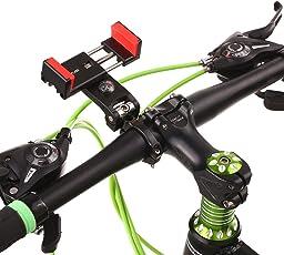 Lixada 自転車電話ホルダー 90°回転可能 クイックアタッチ 304ステンレススチール iPhone7/6sプラス/サムスンS7 / S6用3.0-6.3inユニバーサルクレードルに対応