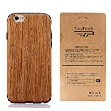 TaoTech iPhone6 plus 6s plus 5.5インチ 対応 高級 天然木製 薄型 木目 木製 木調 シリコン iPhone木製 ケ