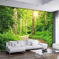 Wxmca 壁紙3D 3Dステレオツリーパス風景の壁紙リビングルームのソファテレビの背景壁画モダン寝室ベッドサイド壁紙-150X120Cm