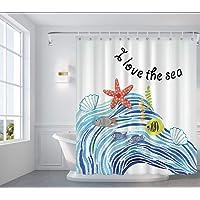 OTOSTAR シャワーカーテン 北欧風 防カビ 防水 180×180cm 柄 カーテンリング付き 取付簡単 目隠し 速…