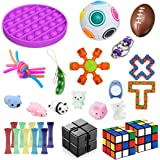 Soaab 32 Pack Sensory Toys Set,Fidget Toys for Adults, Kids,Babies Stress Relief Anti-Anxiety Fidget Toy Party Favour Classro