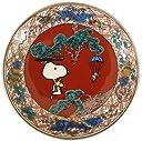 スヌーピー 九谷焼 豆皿 赤絵 SN362-333