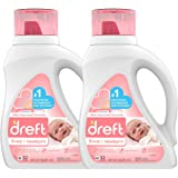 Dreft Stage 1: Newborn Hypoallergenic Liquid Baby Laundry Detergent (HE), Natural for Baby, Newborn, or Infant, 50 Ounce (32