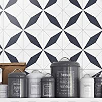 Tiles Stickers Decals (Pack of 32 tile stickers) - タイルステッカーデカール(32個のタイルステッカーのパック) (Moroccan, Wall Tiles, Vinyl Tiles, Flooring, Vinyl Floor, Tile Stickers, Bathroom, Kitchen, 7.9 x 7.9 inches - 20 x 20 cm)