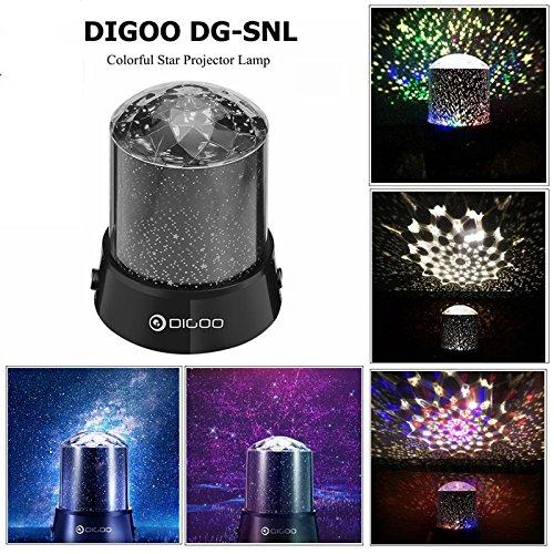 プロジェクターランプ DIGOO ナイトライト スタープロジェクター 星空 宇宙 回転 レッドスター...