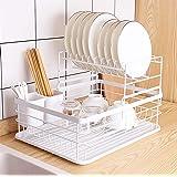 食器 水切り かご 乾燥 バスケット かご 水が流れる 水切りラック 2段