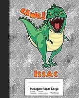 Hexagon Paper Large: ISSAC Dinosaur Rawr T-Rex Notebook (Weezag Hexagon Paper Large Notebook)