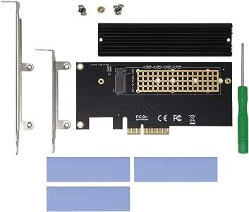 ヒートシンク搭載 M.2 NVMe SSD変換PCIeカード AIF-10