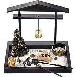 Prime Feng Shui Zen Garden Buddha Figures Mini Bell Archway Garden Kit with Sand Rocks Rake Tower Candle Holder Best Gift Art