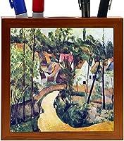 Rikki Knight Paul Cezzane Art Road Bend Design 5-Inch Wooden Tile Pen Holder (RK-PH3420) [並行輸入品]