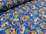 ドラゴンボールZ ブルー キルト   |キャラクター |キルティング|生地|布地|綿|コットン|