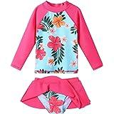 BAOHULU Girls Swimsuit Tankini Two Piece Bathing Suits -Top & Skirt with Built in Bikini Brief