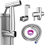 Roccar Handheld Bidet Sprayer for Toilet, Spray Attachment with Hose for Feminine Wash, Baby Cloth Diaper Washer, Stainless S