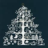 DMC クロスステッチ刺繍キット JPBK557N 「Christmas Tree」(クリスマスツリー) 紺