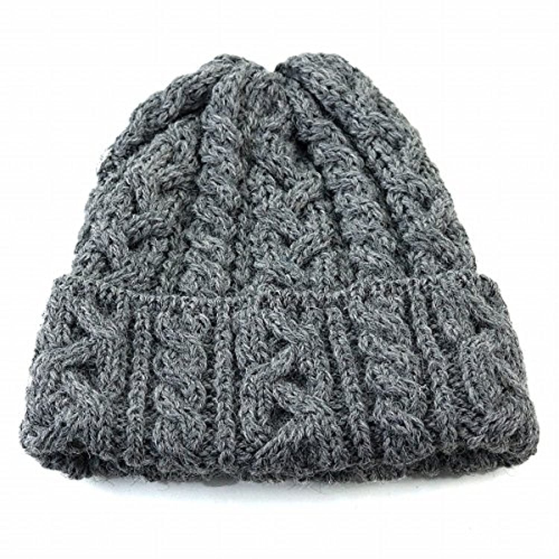 (ハイランド2000) HIGHLAND2000 ニット帽 ニットワッチ ケーブル編み 折り返し 秋冬