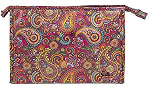 Dilly's Collections Wide Large Cosmetic Makeup Bag Retro