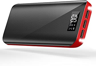 モバイルバッテリー 大容量 24000mAh 三台同時充電 スマホ 急速充電 3USB出力ポート(2.1A+2.1A+1A) 地震/災害/旅行/出張/アウトドア活動 充電器 iPhone/iPad/Android各種対応 (ブラック)