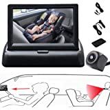 RYBPVC Baby Car Mirror, UPGRADED Baby Monitor with Infrared Night Vision for Rear Facing Seat Safely Car Seat Mirror with 360