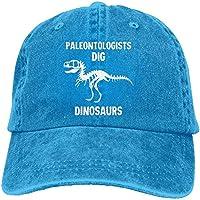 大人 デニム キャップ古生物学者 掘る 恐竜 化石 アニマル柄 デザイン 大人気 登山 ハット UVカット 紫外線対策 日よけ 小顔効果 プリント付き 無地 Natural