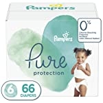 Diapers Size 6, 66 Count - Pampers Pure Protection Disposable Baby Diapers, Enormous Pack