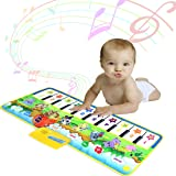 Piano Mat for Toddler, Musical Piano Keyboard Mat Dance Mat Funny Animal Touch Carpet Musical Blanket Toys for Little Girls B