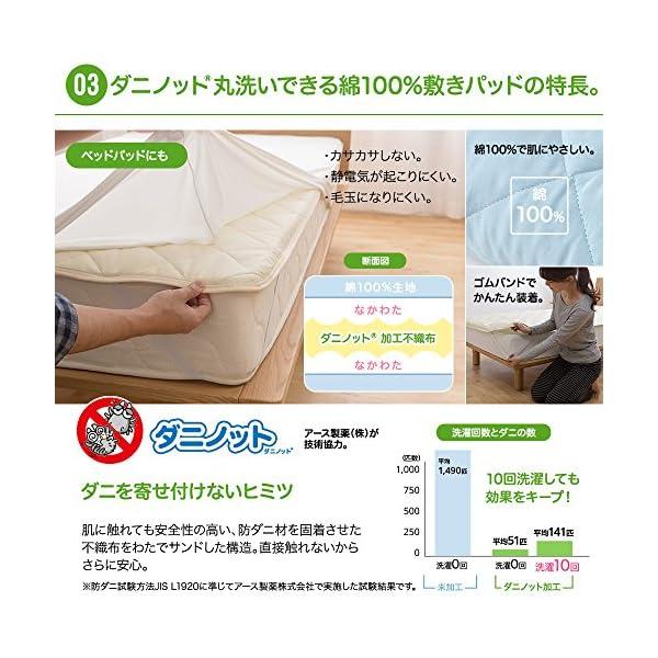 mofua 敷きパッド ダニノット(R)使用 ...の紹介画像5