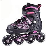Lucky-Mキッズローラースケート 子供用 ジュニア Inline skate 男の子 女の子 フルフラッシュインライ…