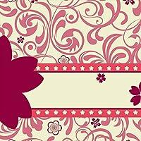 ポスター ウォールステッカー 正方形 シール式ステッカー 飾り 30×30cm Ssize 壁 インテリア おしゃれ 剥がせる wall sticker poster フラワー 花 フラワー 007255