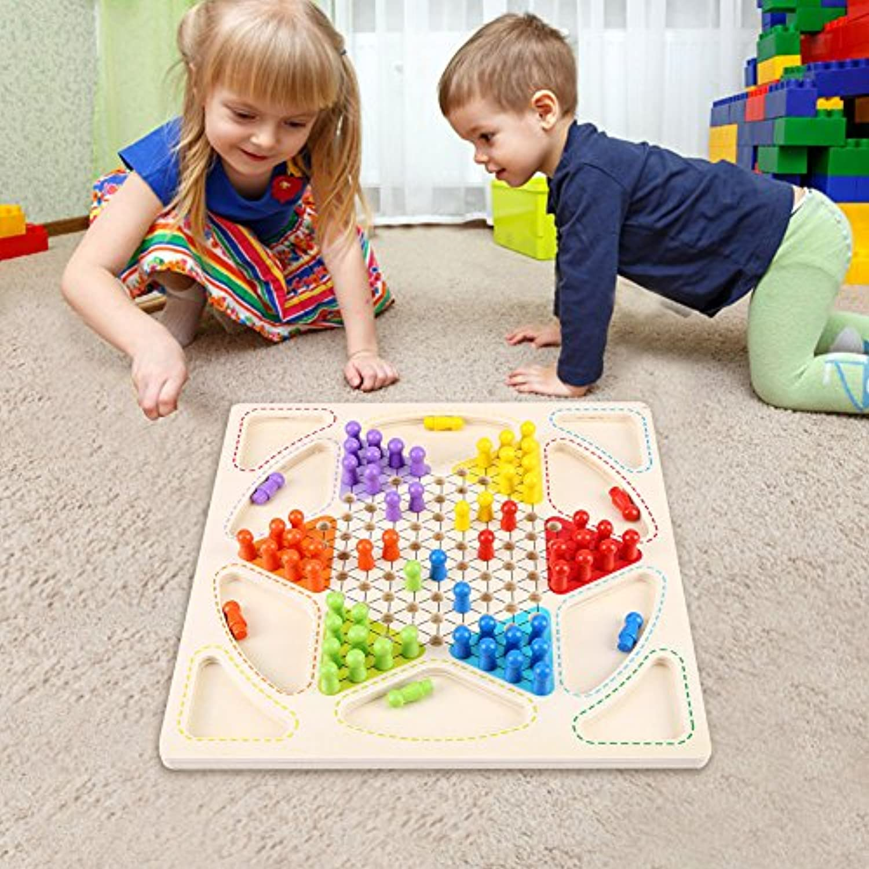 Yosoo ダイヤモンドゲーム 頭脳トレーニング ボードゲーム 家族パーティー用 ゲーム 子供用品 チェッカー エディケーショナル 玩具