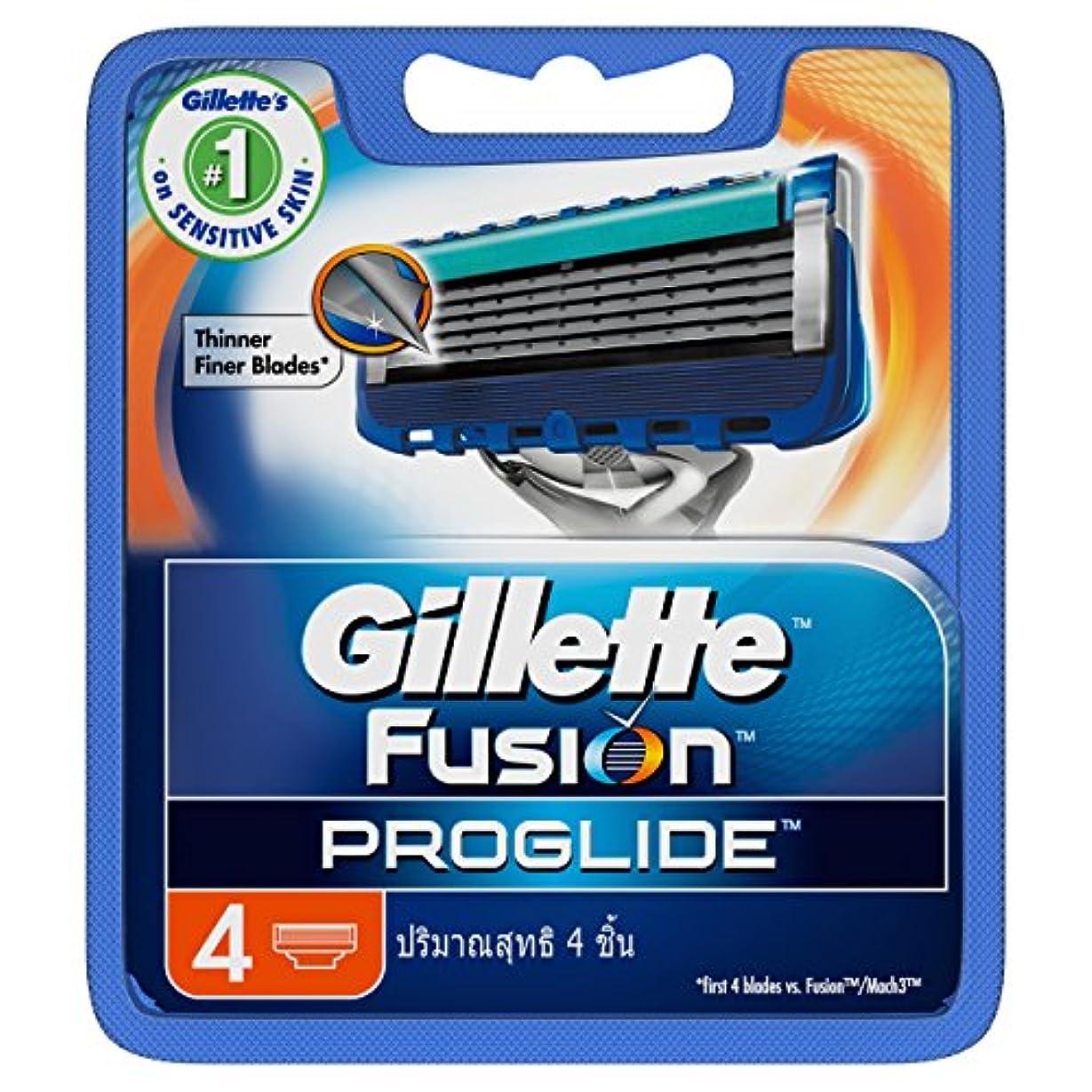 溝他に首尾一貫したGillette Fusion Proglide Shaving Cartridges 4