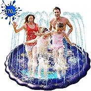 噴水マット 直径170CM 噴水プール 水遊びおもちゃ ビニールプール スプラッシュパッド 夏の日 子供用 親子遊び 家庭用 庭/芝生遊び