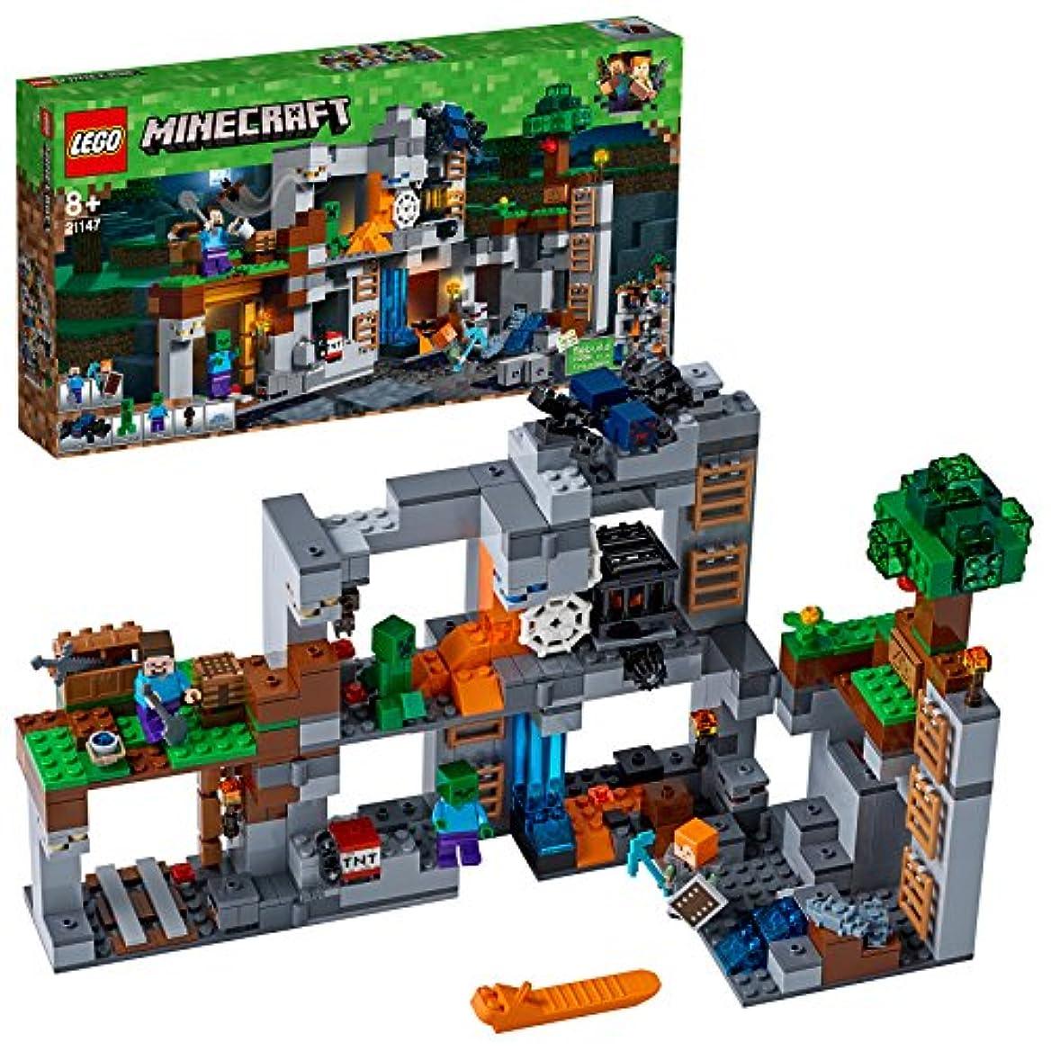 ボス透けるカバーレゴ(LEGO)マインクラフト ベッドロックの冒険 21147 ブロック おもちゃ 男の子