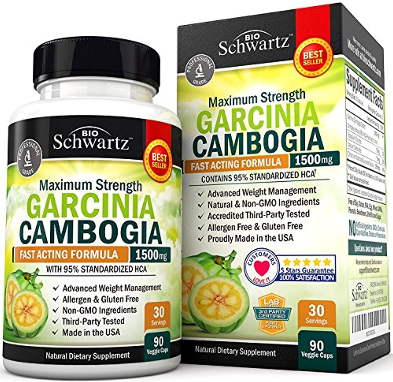 選ぶぜいたくアシスタントBioSchwartz ガルシニア カンボジア Garcinia Cambogia 95% HCA 1500mg 90粒