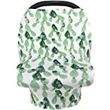 Nursing Cover Breastfeeding Scarf, Car Seat Covers for Babies Infant Carseat Canopy, Stretchy Soft Breathable Multi-Use Cover