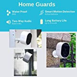 Home Guards C302 1080P HD Wireless Security Camera Outdoor/Indoor, Standalone WiFi connection, 180-Days Battery Life, Human D