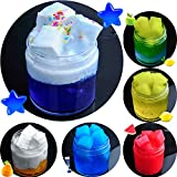 HSETIV slimeフリースライムおもちゃ、ふわふわスライム香りストレスリリーフ感覚玩具/無硼素バブルガムフレグランス 画像