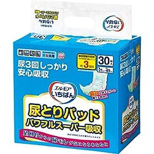 いちばん 尿とりパッド パワフルスーパー吸収 30枚入(テープタイプ用)