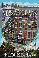 ニューオーリンズ、ルイジアナ州–モンタージュ 12 x 18 Art Print LANT-54840-12x18