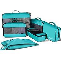 JESWOトラベルポーチ 6点セットアレンジケース旅行にも便利なグッズパッキングバッグ 衣類収納(S・M・Lサイズ)・靴…