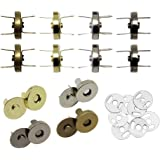 Hysagtek 40 Sets Magnetic Button Clasps Snaps Fastener Clasps DIY Craft Sewing Buttons Knitting Buttons Sets for Sewing Craft