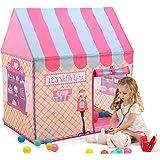 キッズテント 子供のおもちゃハウス 可愛いボールテント 折り畳み式 知育玩具 室内遊具 簡単に組立 お誕生日 出産祝い クリスマスのプレゼント おままごと Monobeach (ピンク)