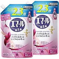 【まとめ買い】エマール 洗濯洗剤 液体 おしゃれ着用 アロマティックブーケの香り 詰替用 920ml×2個