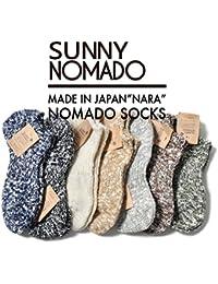 靴下 メンズ 日本製 コットン 綿 ヘンプ 麻 夏 涼しい 冬 暖かい くるぶし 25-27 無地 丈夫 厚手 ノマド