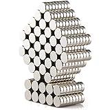 DIYMAG Refrigerator Magnets Premium Brushed Nickel Fridge Magnets, Office Magnets - 6 X 2 mm