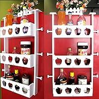 WENZHE キッチン収納りキッチンラック収納棚壁掛け式キッチンラックワゴン冷蔵庫ラックサイドウォールパイロンウッディーホワイト多機能、3層、32.5 * 12 * 70cm
