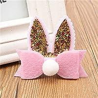 Vi.yoヘアピン ヘアアクセサリー 頭飾り 子供 赤ちゃん かわいいウサギの耳 ピンク