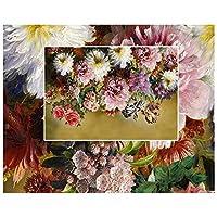 Mrlwy カスタム壁紙3d写真壁画ヨーロッパレトロヴィンテージ手描きのバラの花テレビの背景の壁紙家の装飾-150X120CM